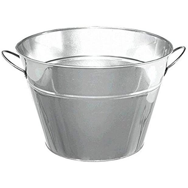 Large Silver Bar Bucket