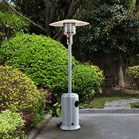 Silver Umbrella Heater