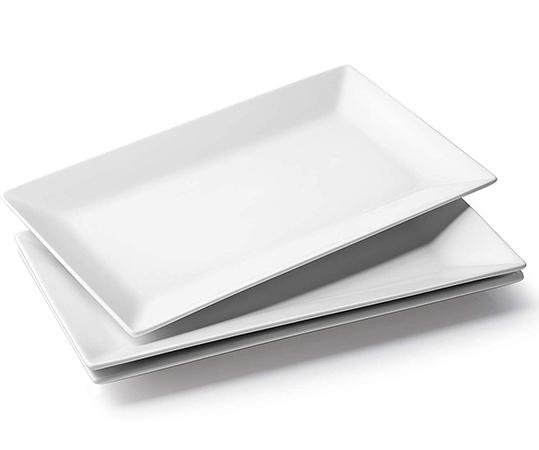 White Ceramic Serving Platters Large