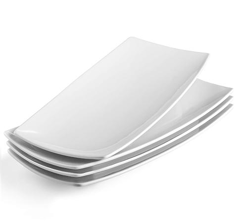 White Ceramic Serving Platters Medium