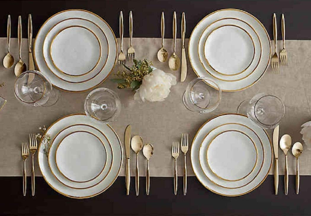 Gold Trim Dinner Set